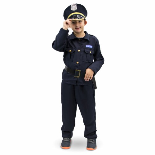 Plucky Police Officer Children's Costume, 5-6 Perspective: front