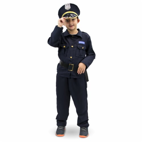 Plucky Police Officer Children's Costume, 7-9 Perspective: front