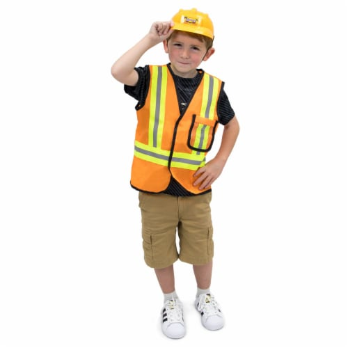 Construction Worker Children's Costume, 7-9 Perspective: front