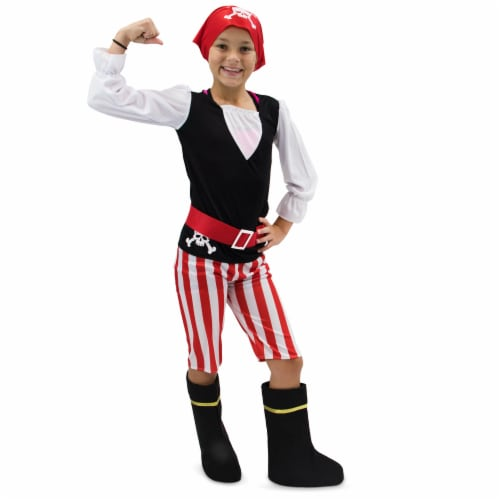 Pretty Pirate Children's Costume, 10-12 Perspective: front