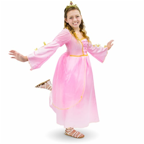 Pink Princess Children's Costume, 5-6 Perspective: front