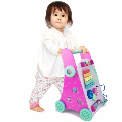 Pink Push-n-Play Walker Perspective: front