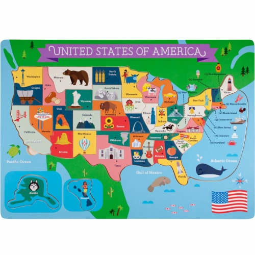 Fifty Nifty USA States Puzzle Perspective: front