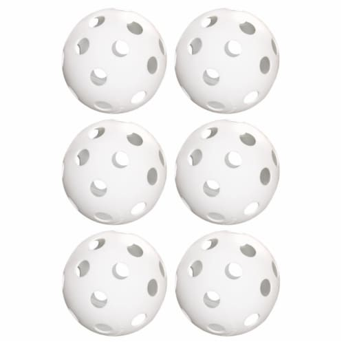 Brybelly SSFT-001 12 in. Practice Softballs, White - Pack of 6 Perspective: front