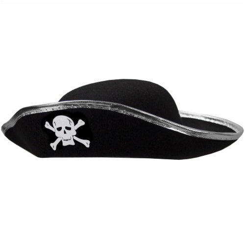 Hard Shell Tricorne Pirate Hat Perspective: front