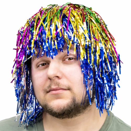 Tinsel Wigs 6-pack, Rainbow Perspective: front