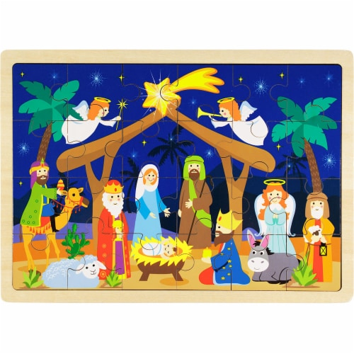 Nativity Puzzle Perspective: front