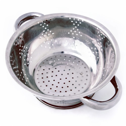 Stainless Steel Kitchen Colander- 1Qt. Perspective: front