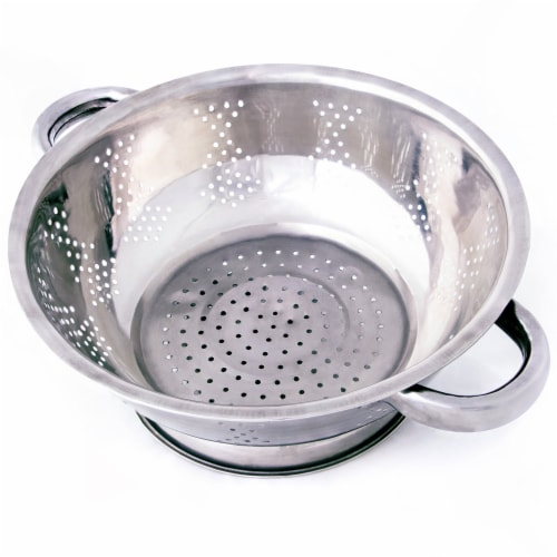 Stainless Steel Kitchen Colander- 2.5 Qt. Perspective: front