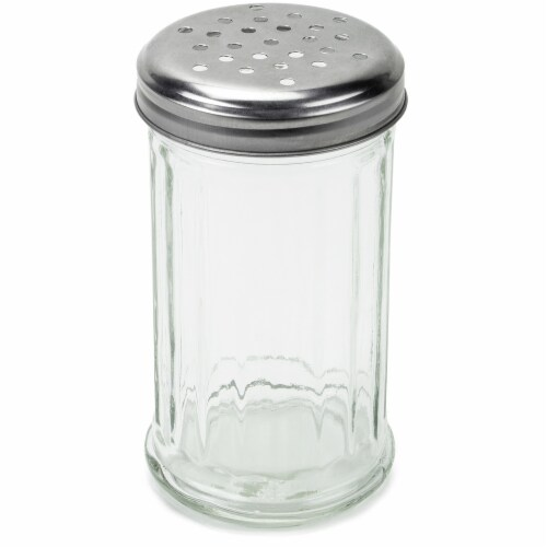 12 oz. Glass Cheese Shaker Perspective: front