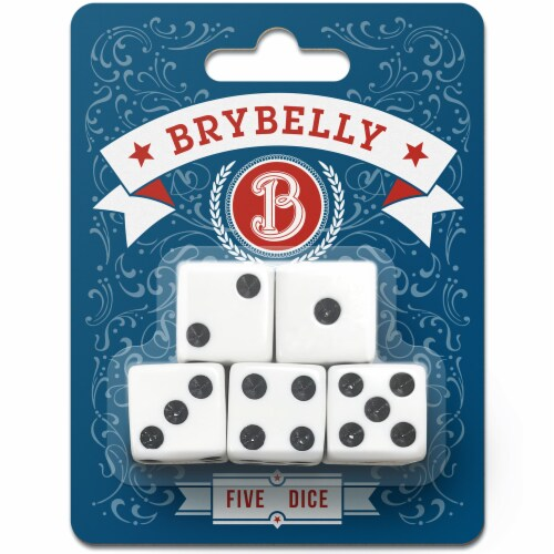Brybelly Dice, 5-pack Perspective: front