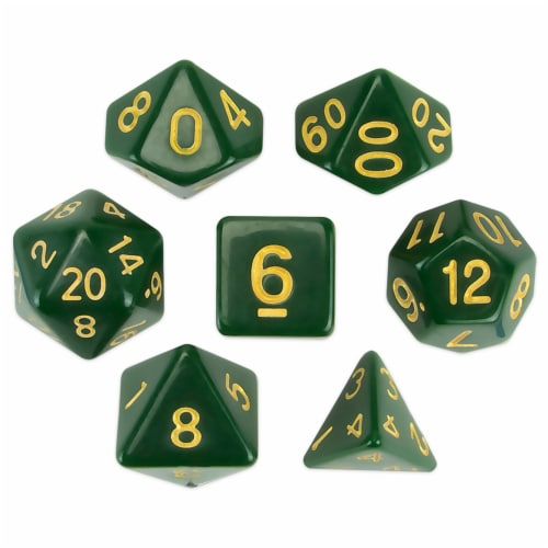 Set of 7 Polyhedral Dice, Blighted Grove Perspective: front