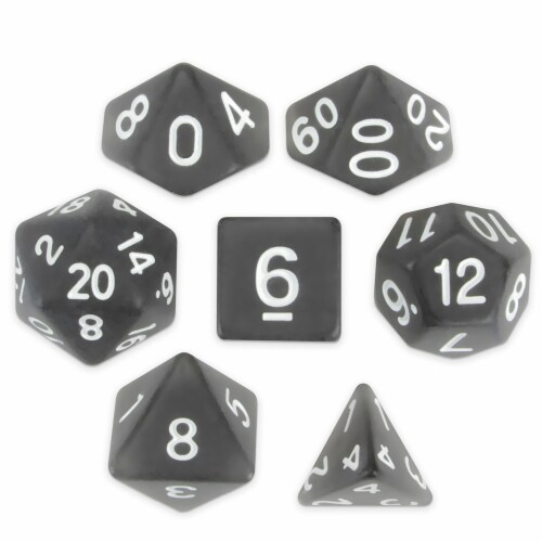 Set of 7 Polyhedral Dice, Penumbra Perspective: front