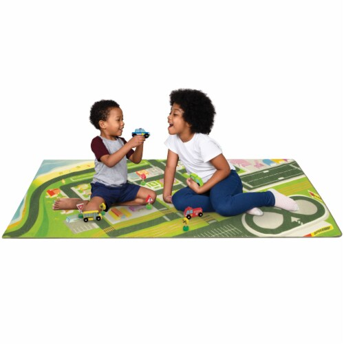 Mini Metropolis City Play Rug Perspective: front