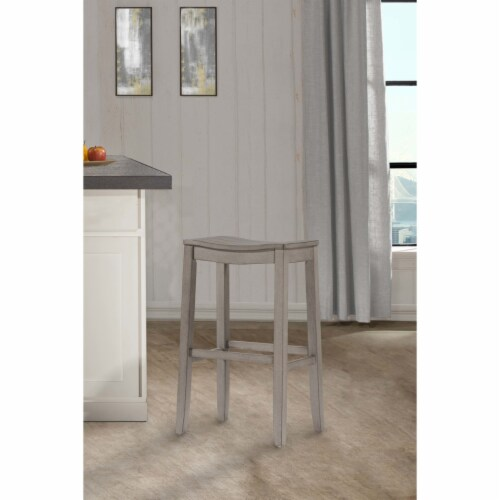 Hillsdale Fiddler 24  Counter Stool in Aged Gray Perspective: front
