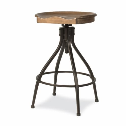 Worland Adjustable Swivel Backless Stool Perspective: front