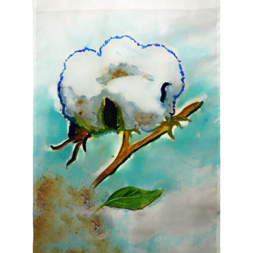 Betsy Drake FL998G Cotton Ball Flag - 28 x 40 in. Perspective: front