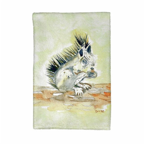 Betsy Drake KT059 Baby Squirrel Kitchen Towel Perspective: front