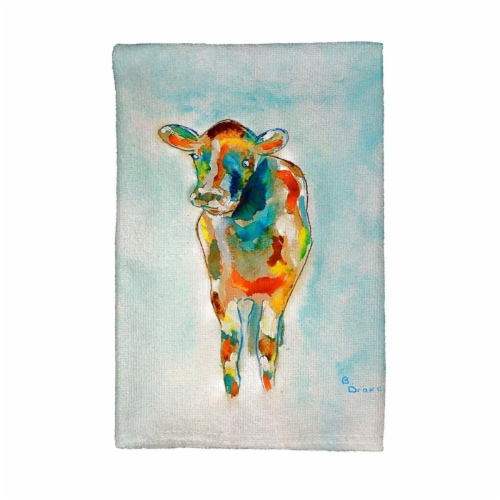Betsy Drake KT066 Betsys Cow Kitchen Towel Perspective: front