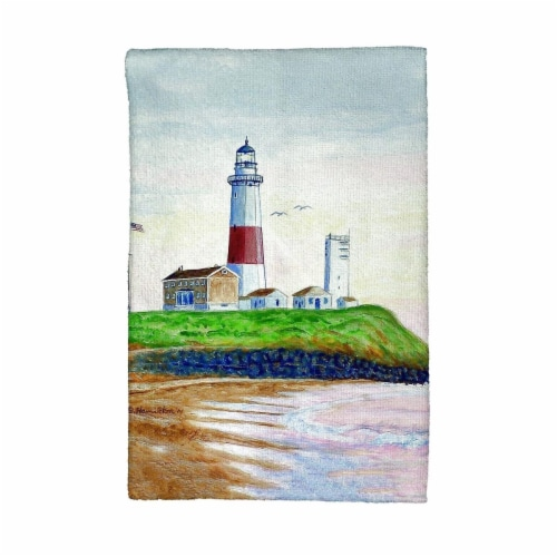 Betsy Drake KT162 Montauk Lighthouse Kitchen Towel Perspective: front
