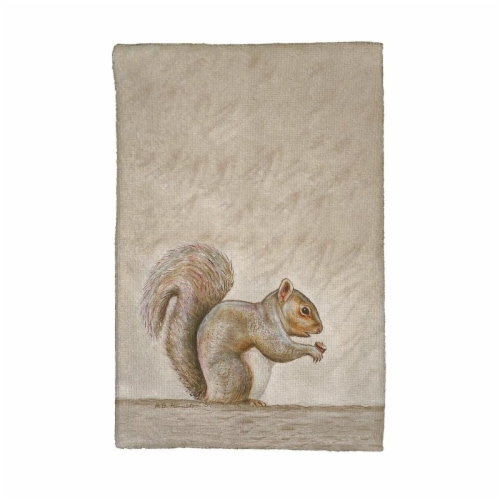 Betsy Drake KT314 Squirrel Kitchen Towel Perspective: front