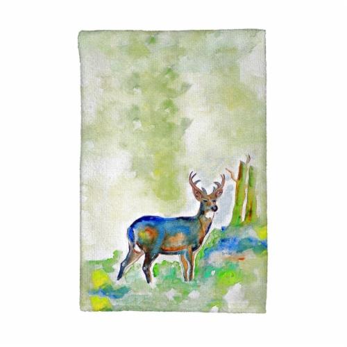 Betsy Drake KT336 Betsys Deer Kitchen Towel Perspective: front