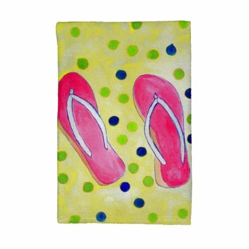 Betsy Drake KT404 Flip Flops Kitchen Towel Perspective: front