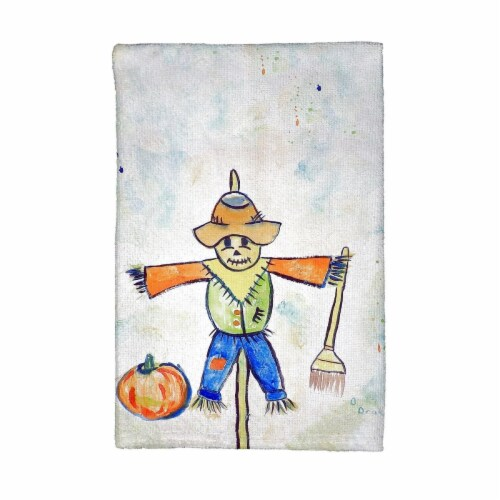 Betsy Drake KT410 Scarecrow Kitchen Towel Perspective: front
