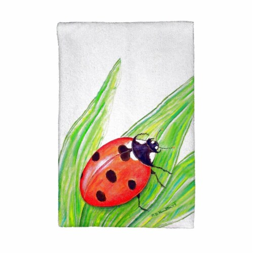Betsy Drake KT457 Lady Bug Kitchen Towel Perspective: front