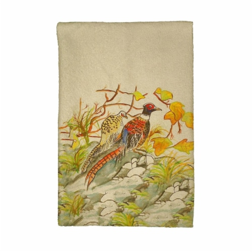 Betsy Drake KT700 Pheasant Kitchen Towel Perspective: front