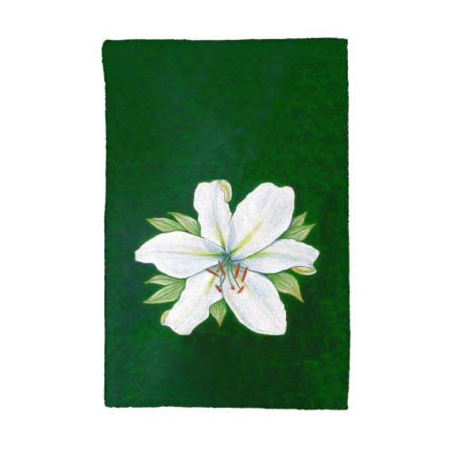 Betsy Drake KT704 Casablana Lily Kitchen Towel Perspective: front