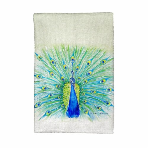 Betsy Drake KT758 Peacock Kitchen Towel Perspective: front