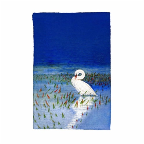 Betsy Drake KT777 Mute Swan Kitchen Towel Perspective: front