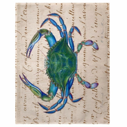 Betsy Drake PM005B 14 x 18 in. Male Blue Crab Place Mat - Set of 4 Perspective: front