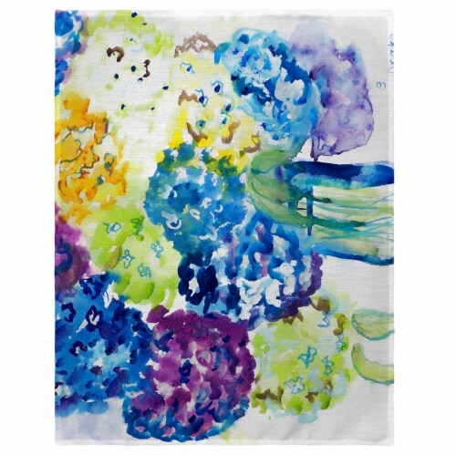 Betsy Drake PM022 14 x 18 in. Betsys Hydrangea Place Mat - Set of 4 Perspective: front