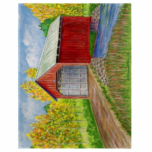 Betsy Drake PM028 14 x 18 in. Dicks Covered Bridge Place Mat - Set of 4 Perspective: front