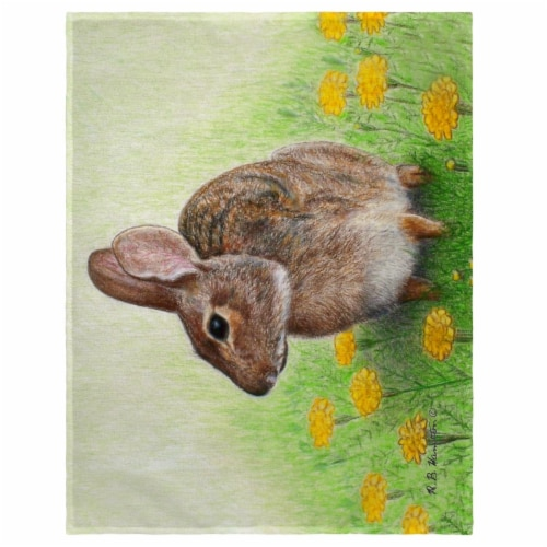 Betsy Drake PM053 14 x 18 in. Rabbit Place Mat - Set of 4 Perspective: front
