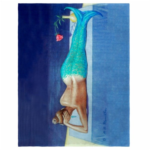 Betsy Drake PM073 14 x 18 in. Mermaid Place Mat - Set of 4 Perspective: front