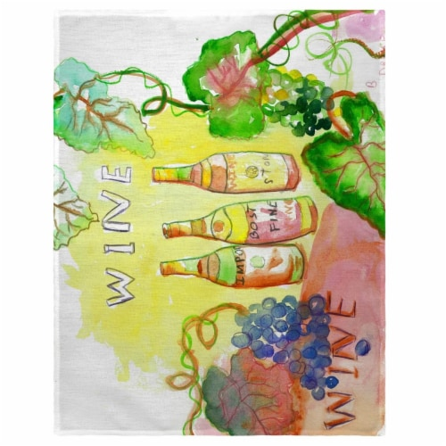 Betsy Drake PM078 14 x 18 in. Wine Bottles Place Mat - Set of 4 Perspective: front