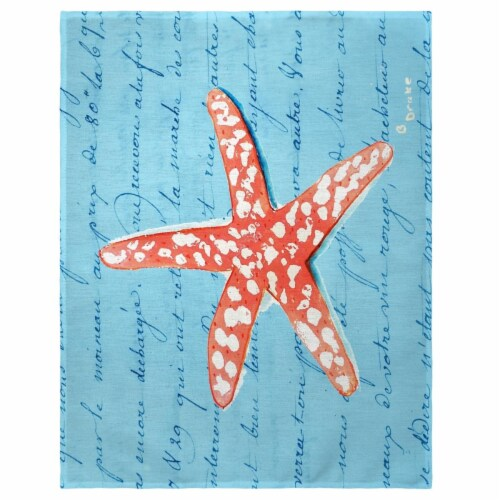 Betsy Drake PM091B 14 x 18 in. Coral Starfish Place Mat - Set of 4 Perspective: front