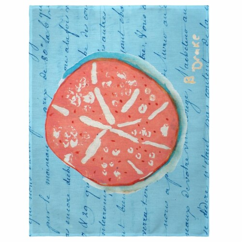 Betsy Drake PM092B 14 x 18 in. Coral Sand Dollar Place Mat - Set of 4 Perspective: front