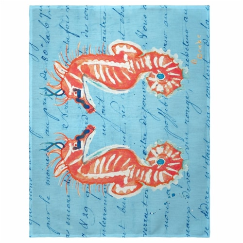Betsy Drake PM100B 14 x 18 in. Coral Seahorses Place Mat - Set of 4 Perspective: front
