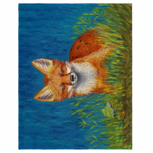 Betsy Drake PM139 14 x 18 in. Red Fox Place Mat - Set of 4 Perspective: front