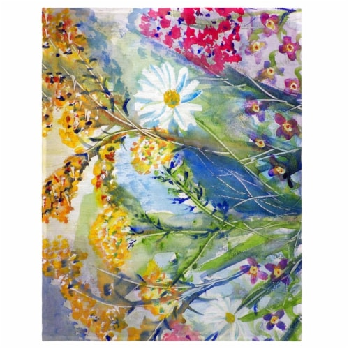 Betsy Drake PM166 14 x 18 in. Wild Flowers Place Mat - Set of 4 Perspective: front