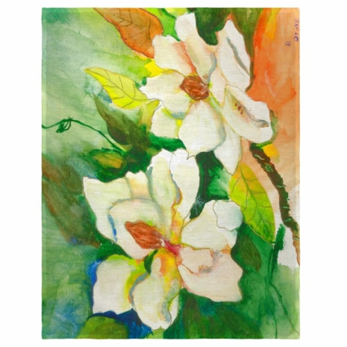 Betsy Drake PM251 14 x 18 in. Magnolias Place Mat - Set of 4 Perspective: front
