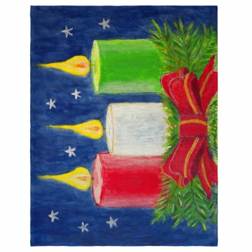 Betsy Drake PM255 14 x 18 in. Christmas Candles Place Mat - Set of 4 Perspective: front