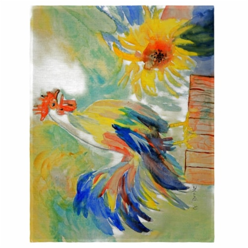 Betsy Drake PM265 14 x 18 in. Betsys Rooster Place Mat - Set of 4 Perspective: front