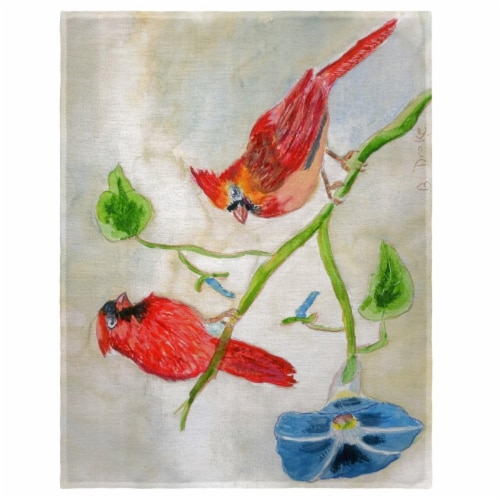 Betsy Drake PM270 14 x 18 in. Betsys Cardinals Place Mat - Set of 4 Perspective: front