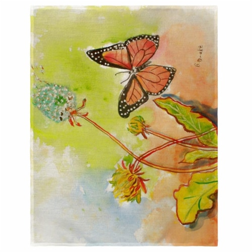 Betsy Drake PM278 14 x 18 in. Betsys Butterfly Place Mat - Set of 4 Perspective: front