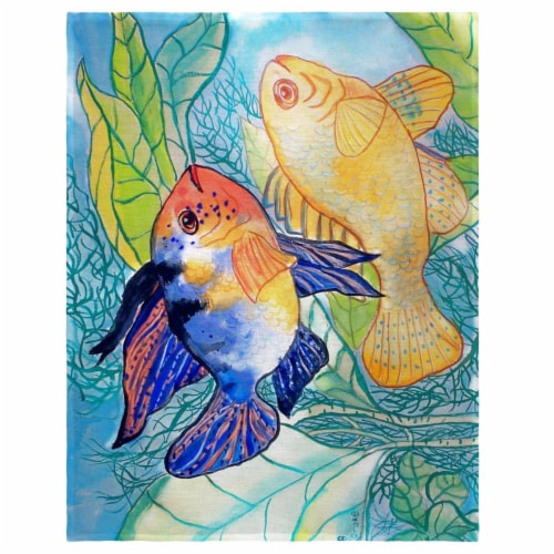 Betsy Drake PM300 14 x 18 in. Betsys Two Fish Place Mat - Set of 4 Perspective: front